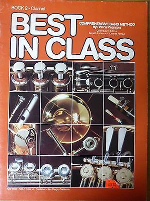 Best in Class Book 2 Clarinet Comprehensive Band Method Bruce Pearson