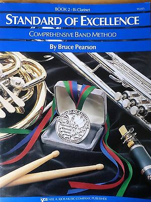 Standard of Excellence Book 2 B flat clarinet Comprehensive Band Method Pearson