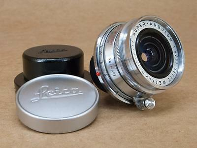 Leitz Leica 21mm 1:4 Super-Angulon Lens + Caps