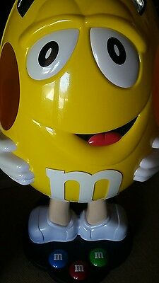 """42"""" YELLOW Peanut M&M Candy Character Store Display on wheels excellent"""
