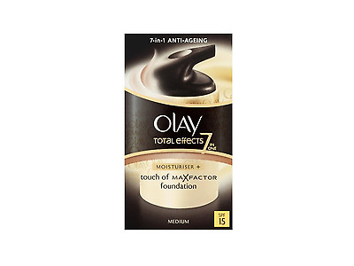 Olay Total Effects Touch Of Max Factor Foundation Medium SPF15 Moisturiser 37ml