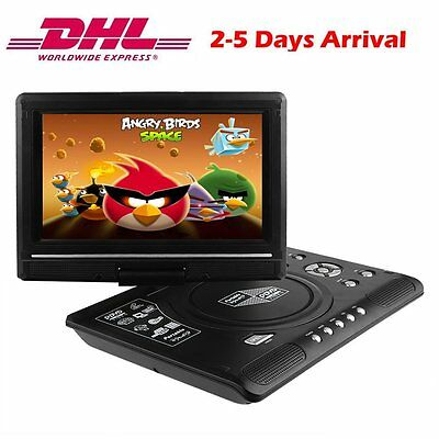9.8 Zoll portable DVD Player 270° Tragbarer Auto TFT Monitor USB TV FM SD Game