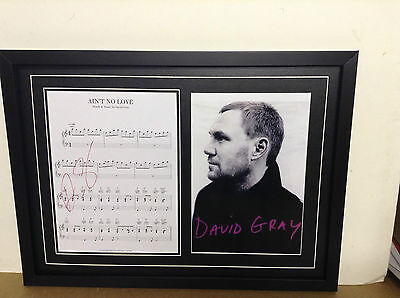 David Gray  Genuine Hand Signed/Autographed Songsheet with a Poster and COA