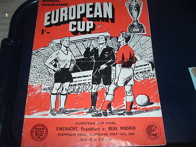 1960 European Cup Final Eintracht Franfurt v Real Madrid