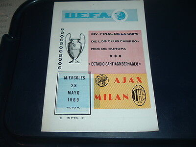 1969 European Cup Final Ajax v Milan