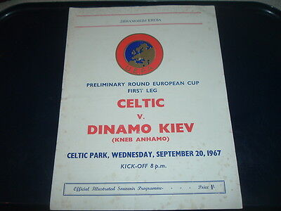 Celtic v Dinamo Kiev Sept 1967 European Cup