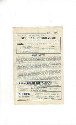 Southport v Doncaster Rovers Football Programme 1949/50