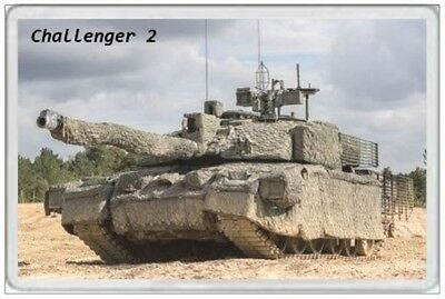 Challenger 2 - Jumbo Fridge Magnet - Battle Tank British Army Military Forces