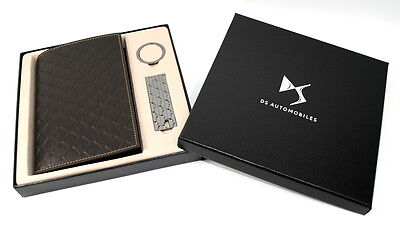 Citroen DS3 DS4 DS5 DS Leather Document Wallet and Key Ring Set Genuine DS118643