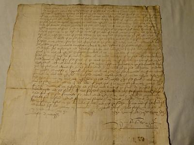 Antique 1579 - Elizabethan Elizabeth I era Signed Manuscript Document #Y102