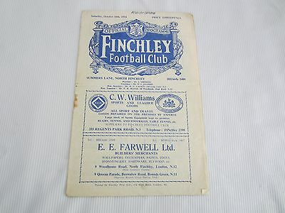 194-55 ATHENIAN  LEAGUE FINCHLEY FC v HITCHIN TOWN