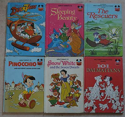 Lot de 14 LIVRES VINTAGE Illustrés  WALT DISNEY  / Lot of 14 Walt Disney Books