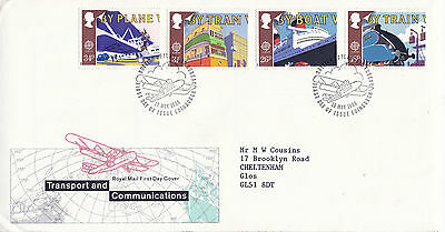 10 May 1988 Transport & Communication Royal Mail First Day Cover  Bureau Shs