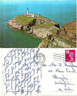 1971 South Stack Lighthouse Anglesey Wales Colour Postcard