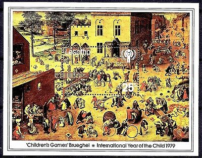 Lesotho 1979 IYC/Child Children Painting Brueghel Battle between Lent Carnival**