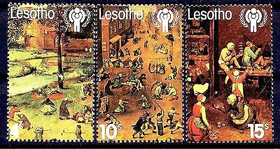 Lesotho 1979 IYC/Children Painting Brueghel Battle between Lent Carnival Charity