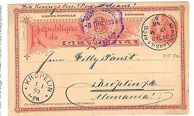 BD12 1899 Guatemala USA Germany Cancelled New Orleans {samwells-covers}PTS