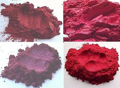 Deep Red Shiny Mica Collection Cosmetic Grade for Makeup Skincare Lipstick Blush