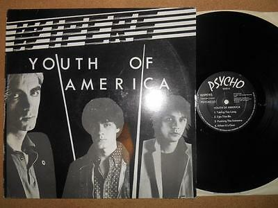 WIPERS Youth Of America - EX/VG Condition 1981 Psycho Records Vinyl LP
