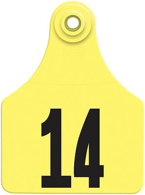 26 - 50* Yellow Global Numbered Large (Calf) ID Ear Tags