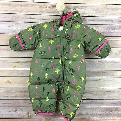 Columbia Infant Baby Girl 6 Month Snuggly Bunny Bunting Snow Suit Zip Hooded