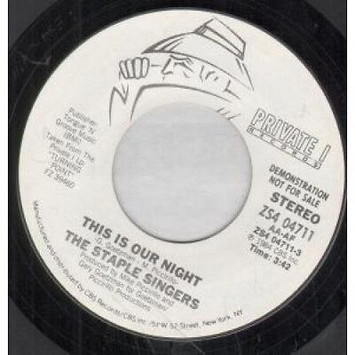 "STAPLE SINGERS This Is Our Night 7"" VINYL US Private I Demo Mono B/W Stereo"