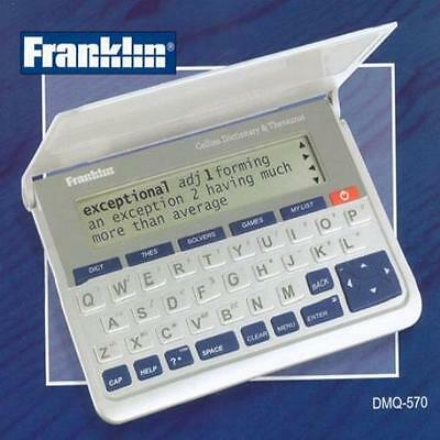 Franklin Dmq 570 Pocket Collins Dictionary And Thesaurus New UK SELLER