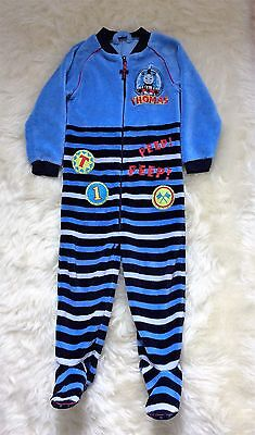 Boys Mothercare Blue Thomas the Tank Engine  All in Onesie Sleepsuit 4 - 5 Years