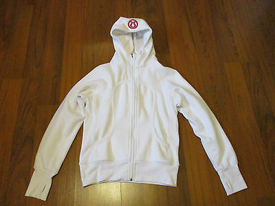 women's pre-owned white  Lululemon Athletica hoodie- size- 10