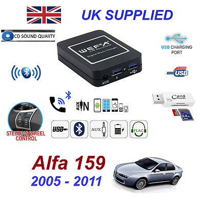 Alfa Romeo 159 Bluetooth Hands Free Phone AUX Input MP3 USB 1.0A Module &Charger