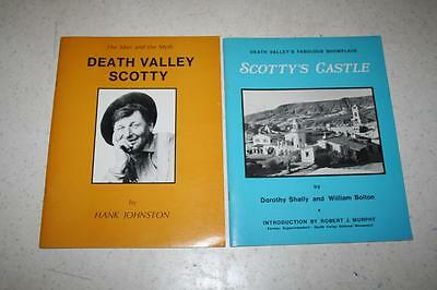 2 Books Death Valley Scotty (by Johnston) & Scotty's Castle (by Shally & Bolton)