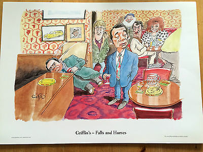 Griffin - Falls and Horses - Only Fools and Horses Cartoon Print