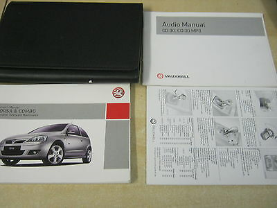 Vauxhall Corsa And Combo Owners Manual Handbook Pack 2004-2008