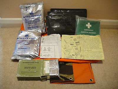 A collection of E&E Survival Items inc Water and Rations