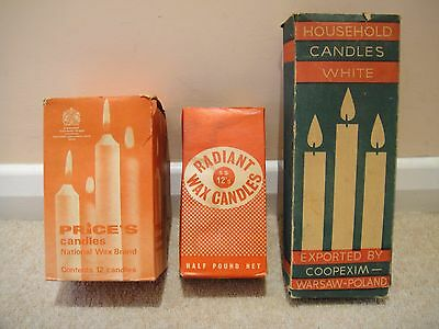 Collectable Vintage Retro Boxes of Candles