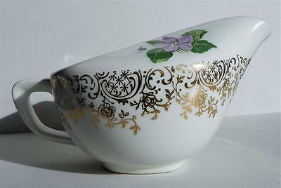 Taylor Smith Taylor Creamer TST 132 Purple Lavender Violet Gold Filigree VGUC