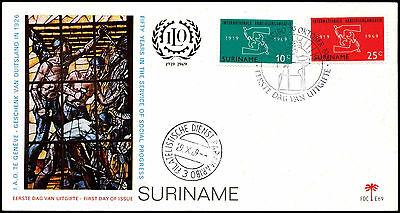Suriname 1969 Int. Labour Organization FDC First Day Cover #C35521
