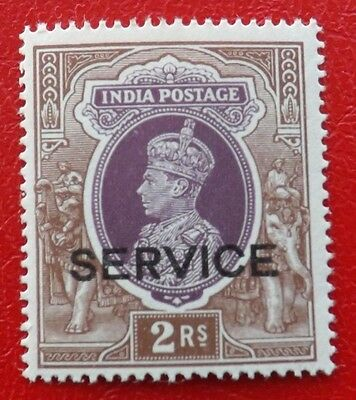 India 1937 King George V1 ( 2 Rupees Official Un-Mounted-Mint) (B)