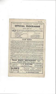 Southport v Tranmere Rovers Football Programme 1947/48
