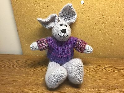 10 inch hand knitted Bunny