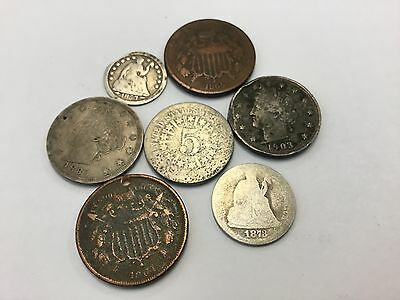 Mix  LOT of 7 OLD  U.S. Coins Collection