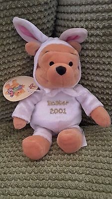Disney Winnie the Pooh 2001 Easter bunny teddy with tags