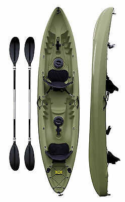 SIT ON TOP 2 + 1 person Family Tandem Double KAYAK CANOE Conwy Free Accesories