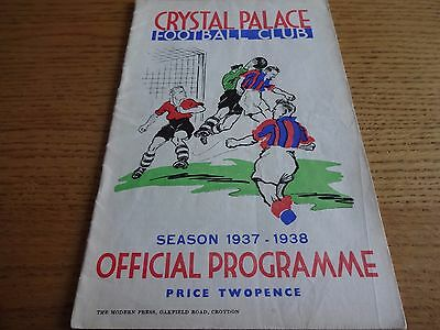 1937/8  -  Crystal Palace  v  Bristol City