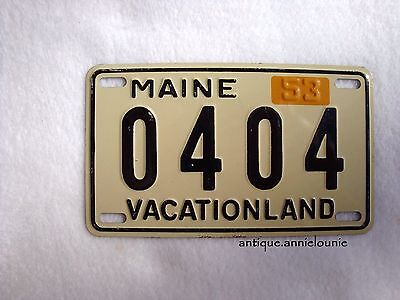 1953 MAINE Wheaties Cereal License Plate # 0404