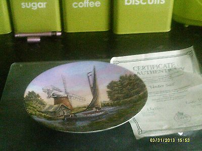 Royal Worcester Collectors Under Sail plate