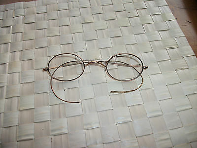 Vintage Rolled Gold 1/10 Spectacles Small Reading Glasses Old Unisex Steampunk