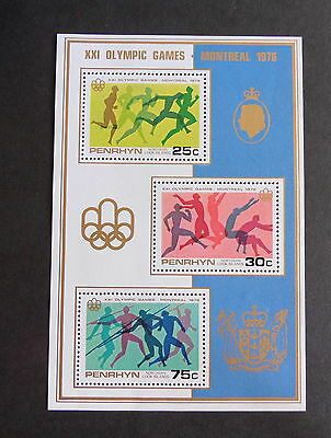 Penrhyn 1976 Olympic Games MS96 Miniature sheet MS running UM MNH unmounted mint