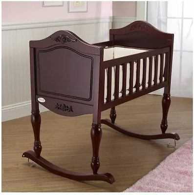 Baby Cradle Bassinet Nursery Rocker Rocking Crib Mattress Shower Gifts Boys Girl