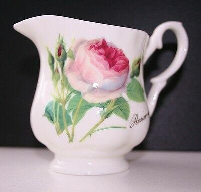 Roy Kirkham Redoute Rose Creamer Quality Selected Seconds Fine Bone China NEW